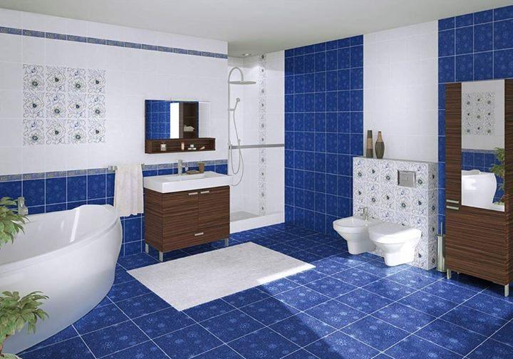 Кобальтовый цвет в интерьере ванной комнаты!